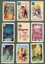 Vintage Collectible Pepys cards game Progress 1940's
